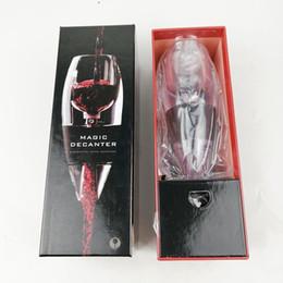 Caixa de presente de vinhos tintos on-line-Magia Vinho Decanter Vinho Tinto Aerador Filtro de Vinho Equipamento Essencial Presente com Saco Hopper Filtro com Caixa De Varejo