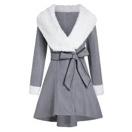 delle donne giacche e cappotto per l inverno signore panno di lana del cappotto delle donne di inverno caldo giacca lunga con cappuccio cintura