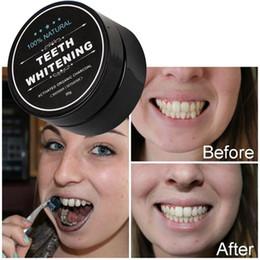 Canada Usage quotidien Blanchiment des dents Scaling Powder Hygiène buccale Nettoyage Emballage Premium Activé Dents de poudre de charbon de bois de bambou blanc DHL Free Ship Offre