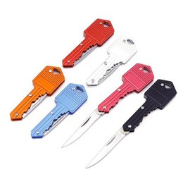 2019 schlüsselketten-brieföffner Mini Schlüssel Messer Brief Camp Outdoor Schlüsselanhänger Schlüsselanhänger Fold Open Opener Taschenpaket überleben Gadget Multi Tool Blade Box Kit günstig schlüsselketten-brieföffner