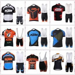 2019 laranja ciclismo jersey térmico KTM equipe Ciclismo Mangas Curtas jersey conjuntos de bermudas Respirável Quick Dry Poliéster SportsOutdoors Bicicleta roupas de Verão dos homens Y53112
