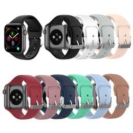 2019 ver texturas Correas DXVROC para Apple Watch 44mm 40mm 42mm 38mm Correa Correa de silicona 3D Texture para iwatch 4/3/2/1 Correa de caucho ver texturas baratos