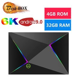 Cpu wifi hdmi online-1 PC Q plus Fernsehkasten des androiden 9.0 mit H6 Viererkabel-Kern-CPU 4GB 32GB 64GB Streaming Media Player-Unterstützung 2.4G Wifi M9S Z8 gesetztes Spitzenkasten IPTV