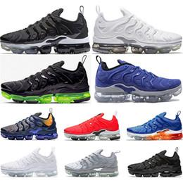 best service 51796 867c1 Nike air vapormax tn plus 2019 nouvelles chaussures de course arivel pour  hommes femmes PURE PLATINUM noir blanc Volt baskets de sport taille 36-45