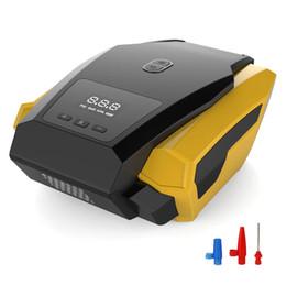 2019 12v автомобильный компрессор Автомобильный светодиодный цифровой насос для накачки шин 12V 150PSI воздушный компрессор для манометров шин скидка 12v автомобильный компрессор