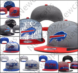 2019 Buffalo Adjustable Hats Bills Ricamo Team Logo Snapback Tutti i team Wholeasle Knit Berretti Cappellini Taglia unica da