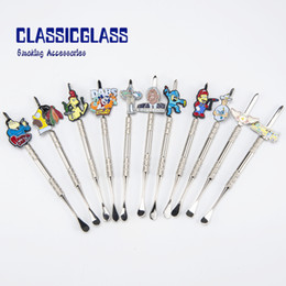 metal dabbers Promo Codes - Metal Dabber Cartoon dabbers Zinc Alloy dabber Smoking Tool for Quartz banger Silicone Grinder pakect pikaqiu