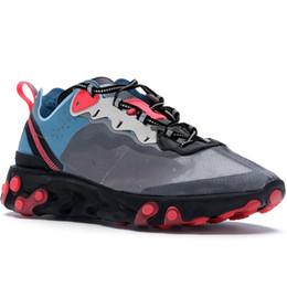 zapatos solares Rebajas Blue Chill Solar Red Neptune Royal Tint Epic React Element 87 Undercover Hombre Zapatillas de running Para mujer Diseñador Zapatillas Zapatillas de deporte