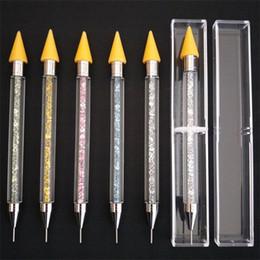 Manicure Double Headed Spot Bohren Crayon Multi unction Gefleckte Blumen Stift Weiß Gelb Drill Beauty Nail Pen 7 5pd L1 von Fabrikanten