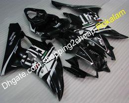 Kits de carenados del mercado de accesorios yamaha r6 online-Cubiertas personalizadas Fit YZF600 R6 Carenado de motocicletas para Yamaha YZF-R6 2006 2007 Negro Blanco Carenado del mercado de accesorios (moldeo por inyección)