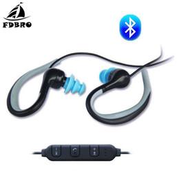 schwimmen kopfhörer bluetooth Rabatt FDBRO Schwimmen Kopfhörer Wasserdichte Bluetooth Headset Sport Wireless Gaming Ohrhörer Mit Mikrofon Halsband Kabelsteuerung IPX8