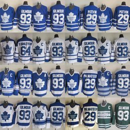 potvin jersey Скидка 29 POTVIN 2019 Toronto ST Pats Men 29 PALMATEER 64 STANLEYCUP 67 STANLEYCUP 93 GILMOUR Toronto Maple Leafs хоккейные майки