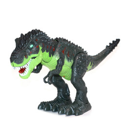 2019 batteriebetriebene dinosaurierspielzeug Große Größe zu Fuß elektrische Dinosaurier Roboter Spielzeug mit Musik Licht Spaziergang Sounds Modell Spielzeug Clasic Lernspielzeug für Kinder als Geschenk