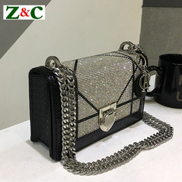 black clutch bag chain Coupons - Designer- 2019 New Diamond Fashion Leather Shoulder Messenger Clutches Bag Casual Chain High Quality Luxury Handbags Women Bags Designer