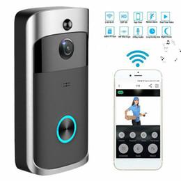 Aplicativo de câmera sem fio para celular android on-line-Higestone WiFi Vídeo Campainha Campainha Da Câmera IP Inteligente Campainha de Áudio de Duas Vias Controle Sem Fio APP Android iOS Alimentado Por Bateria