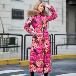 длинный верхняя одежда жакет женщин цветок пальто Скидка 2019 зимняя куртка женская пуховики женская длинное пальто мех енота капюшон цветок утка пуховик верхняя одежда пальто девушка парка