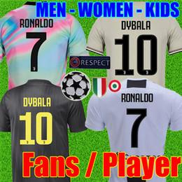 3cbf9c335d9 Thailand RONALDO Juventus 2019 player version Champion league soccer jerseys  DYBALA 18 19 EA Sports football kit shirt MEN WOMEN KIDS JUVE