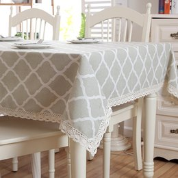 2019 pezzi da tavola per matrimoni Tovaglia di Natale Confortevole lino semplice modello lavabile tovaglia in pizzo per la cena di nozze Banchetto di caffè