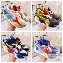 enfants d'arts martiaux Promotion Haute Qualité Chaussures Enfants RS-X RS X Reinvention Chaussures Rs Baskets Garçons Filles Bébé Baskets Pour Enfants Sports Enfants Chaussures Taille 28-35