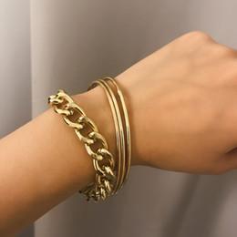 d59391dafce3 colorear gruesos brazaletes Rebajas Cadena de color de moda de oro pulseras  para las mujeres multi