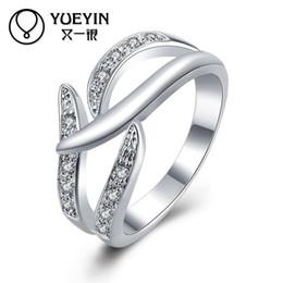 женские обручальные кольца Скидка Женские ювелирные изделия посеребренные обручальные кольца обручальные ювелирные изделия bague femme Classic никогда не выцветают оригинальный дизайн Женские кольца