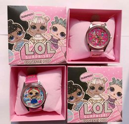 Cartoon della vigilanza del ragazzo online-Il lotto all'ingrosso LOL Sorpresa Bambini orologio da polso per bambini Cartoon Orologi con scatole da regalo W0012