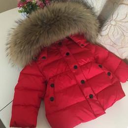 große jungs daunenjacke Rabatt 2019 Neue Kind-Winter-Daunenjacke für Mädchen Jungen Kids Duck Down Jacket Big Raccon Pelz Kapuze Warme Parka Kids Parkas