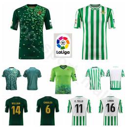FC Real Betis Soccer 10 BOUDEBOUZ Jersey 2018 2019 Men Green 23 MANDI 8  INUI 9 SANABRIA 3 GARCIA Football Shirt Kits Uniform b23cb6bc3