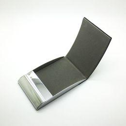 Semi-Arc vertikale Edelstahl-Leder-Visitenkartenhalter Card Box Wasserdichte ID-Kartenhalter Pocket Wallet Holder von Fabrikanten