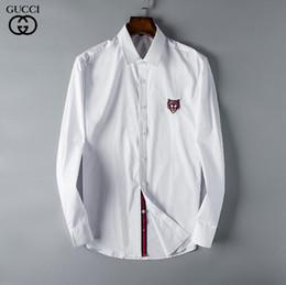 Argentina 19 otoño invierno para hombre Diseñadores OXFORD g Camisa de vestir de manga larga casual de cocodrilo para hombre camisa social g de EE. UU. supplier winter polo neck Suministro