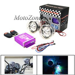 luz de flash mp3 Rebajas 2018 Alta calidad Motocicleta Impermeable Antirrobo Altavoces de audio Radio FM Reproductor de música MP3 con luz intermitente