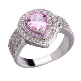 anéis de diamante de strass Desconto Mulheres de Prata Banhado A Cristal Austríaco Anéis de Zircônia Cúbica de Luxo Anel de Diamante Gemstone Anéis de Amor para a Festa de Casamento Venda Quente