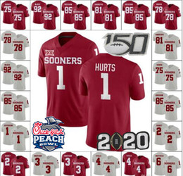 Oklahoma sooners divisa online-2019 Peach Bowl Oklahoma Sooners 1 Kyler Murray 2 CeeDee Agnello 7 Spencer Rattler 5 Marquise Brown 26 Kennedy Brooks 44 Radley-Hiles Maglie