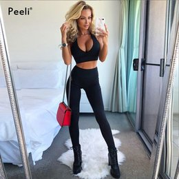 aa309af1c6 Peeli Sexy Sports Suits For Fitness Gym Clothes Women Sports Bra Leggings 2  Piece Yoga Set Workout Running Tracksuit Sport wear  120043 plus size  running ...