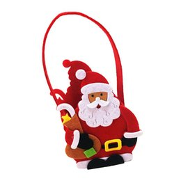 bear shaped chocolate Promo Codes - 1Pc Santa Claus Bear Snowman Shape Gift Bag Christmas Decorations For Merry Christmas Home Party Decor Kids Gifts Supplies