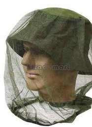 flat head fish Promo Codes - Outdoor New Camouflage Mosquito net Hat with Head Net Mesh Fishing Beekeeping Hat