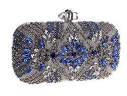 Diamante de diamante quadrado on-line-Moda saco de noite com diamantes acrílico fivela saco de embreagem pequeno saco quadrado 7666-05 feminino