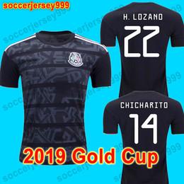eb2f207a65f39 Mexico soccer jersey football shirt H. LOZANO 2019 taça de Ouro México  camisa de futebol blackout G. DOS SANTOS VELA CHICHARITO camisa de futebol  uniformes ...