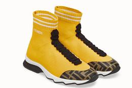 Männer farbige socken online-2019 Luxuriöse Marke Unisex Casual Schuhe Flache Mode männer Socken mehrere farbe Stretch Mesh High Top frauen Sneaker Geschwindigkeit Trainer Läufer