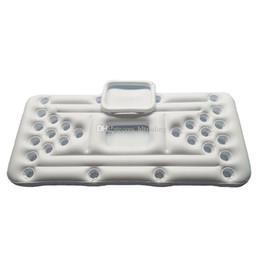 Столы для воды онлайн-Игры для вечеринок у бассейна Raft Lounger Надувной плавающий ряд для взрослых Водный игровой стол Бассейн 28 лунок с пивным столом C6775