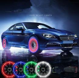 2019 magnet blaues licht Tagfahrlicht wasserdicht 15 Modus Solarenergie LED Auto Blitz Rad Reifen Ventilkappe Neon DRL Lampe Räder Lampe
