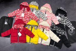 Revestimento reversível on-line-Crianças reversível Quente Casaco Casacos desportivos caçoa a roupa à prova de vento Engrosse Rapazes Meninas branco escuro jaquetas Outono Inverno