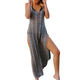 Robe Longue Femme Élégante Plage Maxi Sexy Robe Imprimer Décontracté Grand Open Edge Design Robe Rayée Robe Sexy ? partir de fabricateur