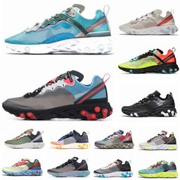 2019 uomini di scarpe da vela React Element 87 Undercover Uomo Scarpe da corsa per donna Designer Sneakers Sport Uomo Scarpe da allenamento Sail Light Bone Royal Tint sconti uomini di scarpe da vela