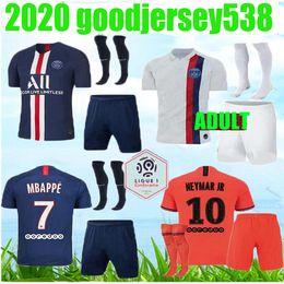 chaqueta de ozil Rebajas Maillots de fútbol kit 19 20 PSG conjunto de fútbol 2019 2020 Paris Mbappé ICARDI Marquinhos Jersey Camisetas de futbol juego de la camisa de los hombres