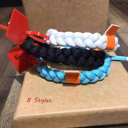 2019 braccialetto dei braccialetti dei braccialetti 8 Styles Lion Series Bracciali Designer Wedelace Woven Mens Luxury Bianco / Bracciale Fashion Woven Lover bangle