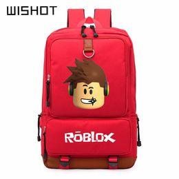 Laptops crianças on-line-WISHOT Roblox jogo casual mochila para adolescentes Crianças Meninos Crianças Estudante Sacos De Escola bolsa de Ombro bolsa de Viagem Unisex Laptop Bags