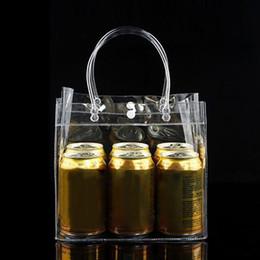 Trasparente Tote Shopping Bag Borsa amichevole trasparente Borsa in plastica in PVC Custodia portatile per alimenti Facile da trasportare Moda # 89884 cheap plastic purse pouch da sacchetto della borsa di plastica fornitori