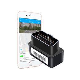 глобальный оптовый трекер Скидка OB22 Plug & Play OBD Автомобильный GPS Tracker с GPS позиционирования в реальном времени слежения подключи Выход сигнала тревоги несколько будильников Компактный размер