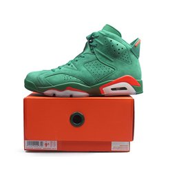 2de888103d31 Green Suede Gatorade 6 Mens Basketball Shoes 6S NRG G8RD Pine Green  Gatorade Women Designer Athletics Sports Sneakers size 5.5-13